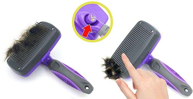 Hertzko Self Cleaning Slicker Brush
